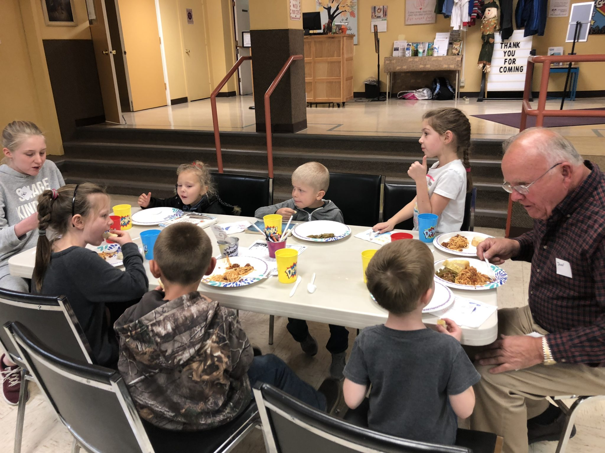 King's Kids dinner