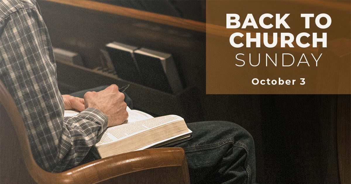 """Featured image for """"Back to Church Sunday: October 3, 2021"""""""