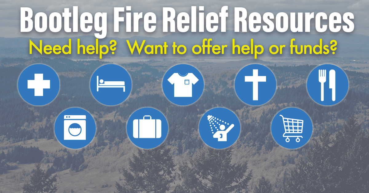 """Featured image for """"Bootleg Fire Relief Resources"""""""