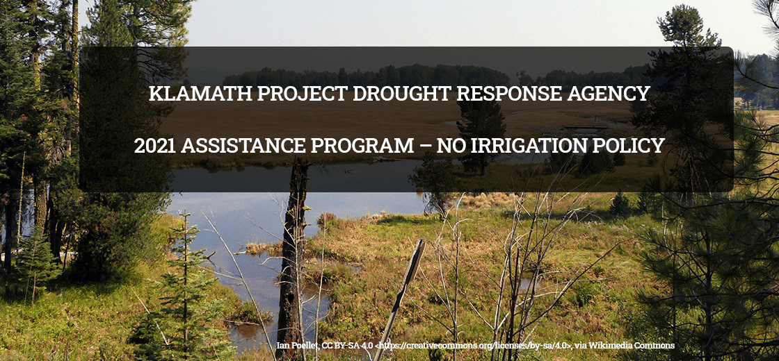 """Featured image for """"2021 ASSISTANCE PROGRAM – NO IRRIGATION POLICY APPLICATIONS DUE ON JULY 30, 2021"""""""